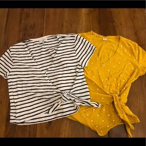 2 for 1 - Madewell & Old Navy Faux Wrap Shirts